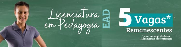 IFSULDEMINAS abre seleção para vagas remanescentes em curso de Licenciatura em Pedagogia EaD