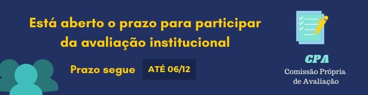 Comunidade acadêmica é convidada a participar da Avaliação Institucional