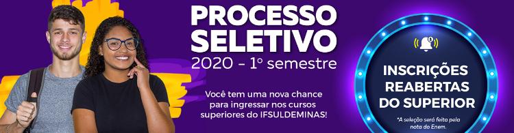Inscrições reabertas para os cursos superiores do IFSULDEMINAS. Prazo seguirá até 09/01!