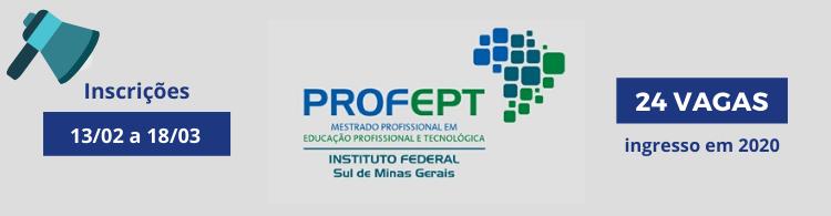 Edital disponível para o Mestrado em Educação Profissional com 50% das vagas reservadas para servidores