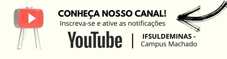 Confira a programação de eventos on-line no nosso canal do Youtube!